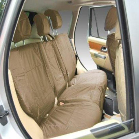 Land Rover Range Rover Sport Fully Tailored Waterproof Rear Second Row Single and Double Set Seat Covers 2013 Onwards Heavy Duty Right Hand Drive Beige- INK-WSC-7115