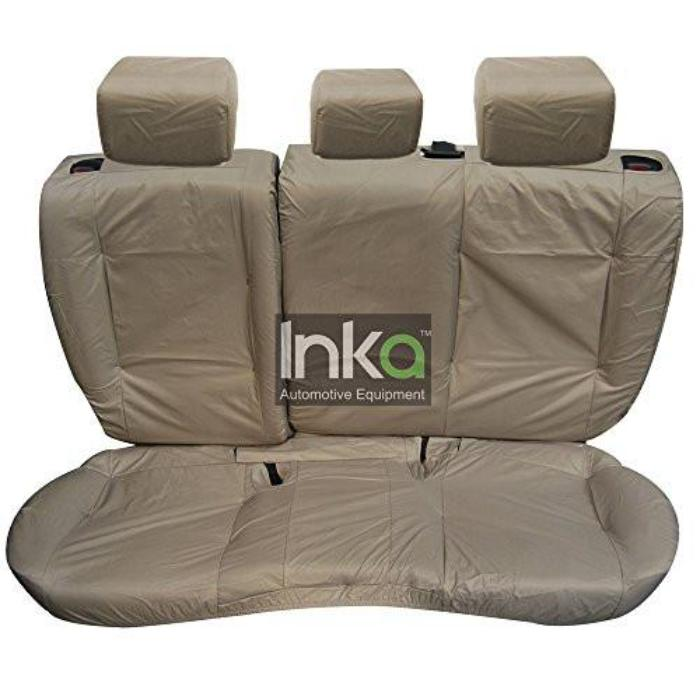 Range Rover Evoque 3-Door Rear Tailored Waterproof Seat Covers Double and Single Seats without Centre Armrest 2011 - 2015 Heavy Duty Right Hand Drive in Beige