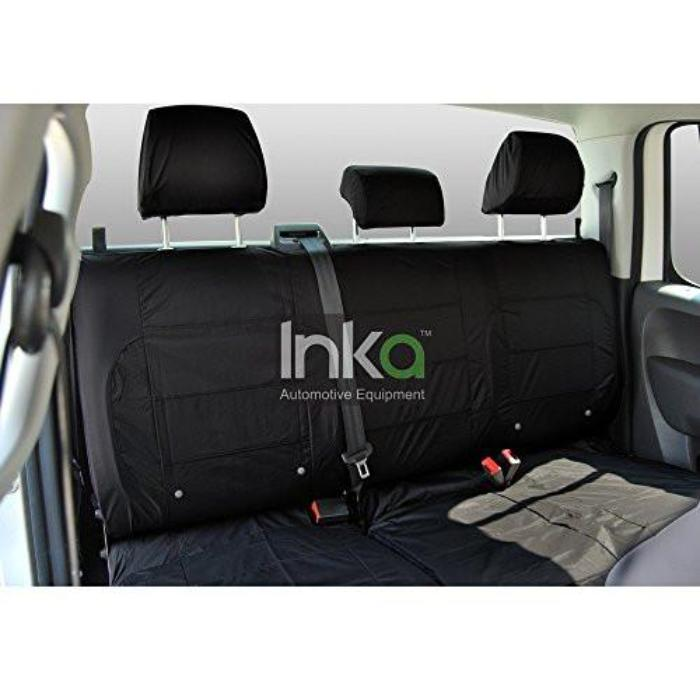 Isuzu Rodeo Fully Tailored Waterproof Rear Second Row Triple Set Seat Cover MY01-2012 Onwards Heavy Duty Right Hand Drive Black