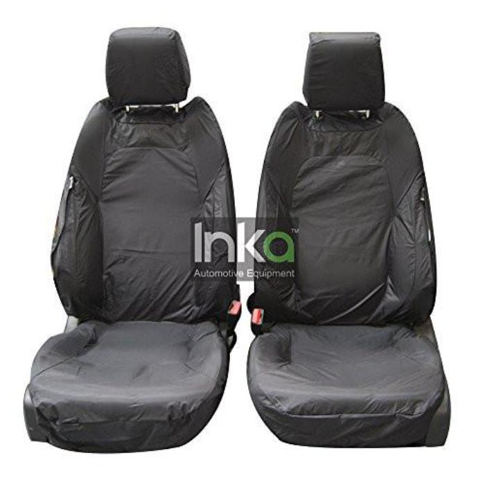 Range Rover Evoque 5 Door Fully Tailored Waterproof Front Row Set Seat Covers 2011 Onwards Heavy Duty Right Hand Drive Grey