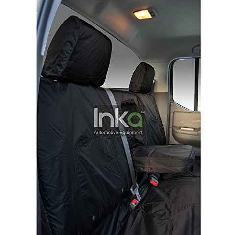 Nissan Navara Acenta Fully Tailored Waterproof Front 2005-2013 Right Hand Drive Heavy Duty Black