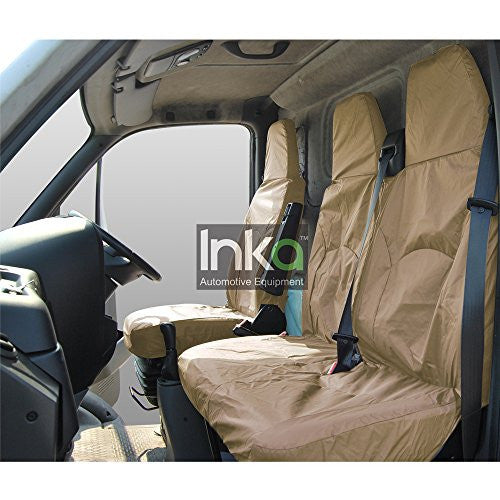 Iveco Daily Fully Tailored Waterproof Front Single and Double Set Seat Cover 2006 - 2011 Heavy Duty Right Hand Drive Beige