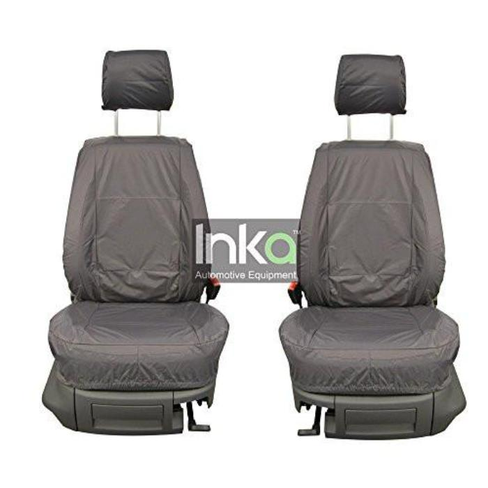 Isuzu Rodeo D Max Fully Tailored Waterproof Front Set Seat Covers MY01-2012 Onwards Heavy Duty Right Hand Drive Grey