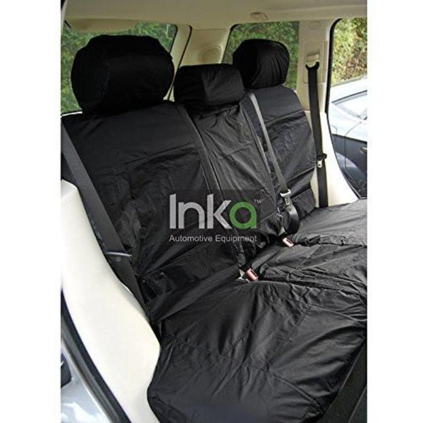 Range Rover Fully Tailored Waterproof Rear Seat Cover Set 2002-2012 Heavy Duty Right Hand Drive Black