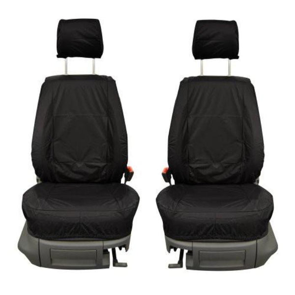 Nissan Micra Fully Tailored Waterproof Front Single and Rear Second Row Triple Set Seat Covers 2007-2010 Heavy Duty Right Hand Drive Black