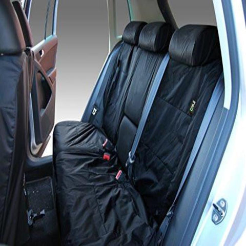 Volkswagen (VW) Tiguan Fully Tailored Waterproof Rear Set Seat Covers 2009 Onwards Heavy Duty Right Hand Drive Black