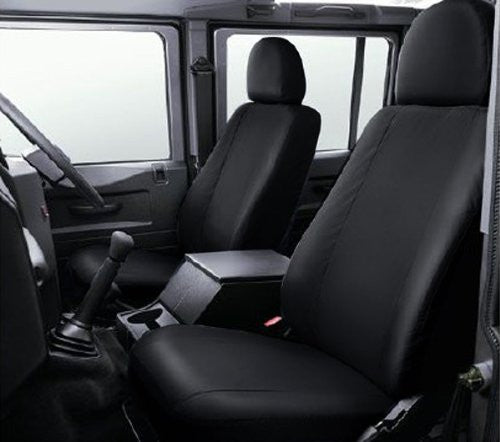 Land Rover Defender Fully Tailored Waterproof Front 2007-2013 Heavy Duty Right Hand Drive Black