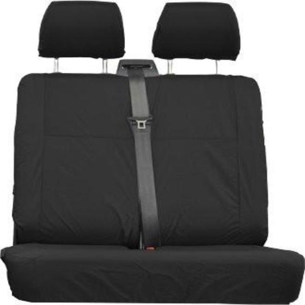Mercedes Vito Fully Tailored Waterproof Rear Second Row Double Set Seat Covers 2006 Onwards Heavy Duty Right Hand Drive Black - INK-WSC-4520