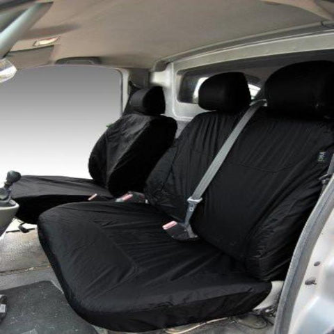 Vauxhall Vivaro Fully Tailored Waterproof Front Set Seat Covers 2003 Onwards Heavy Duty Right Hand Drive Black