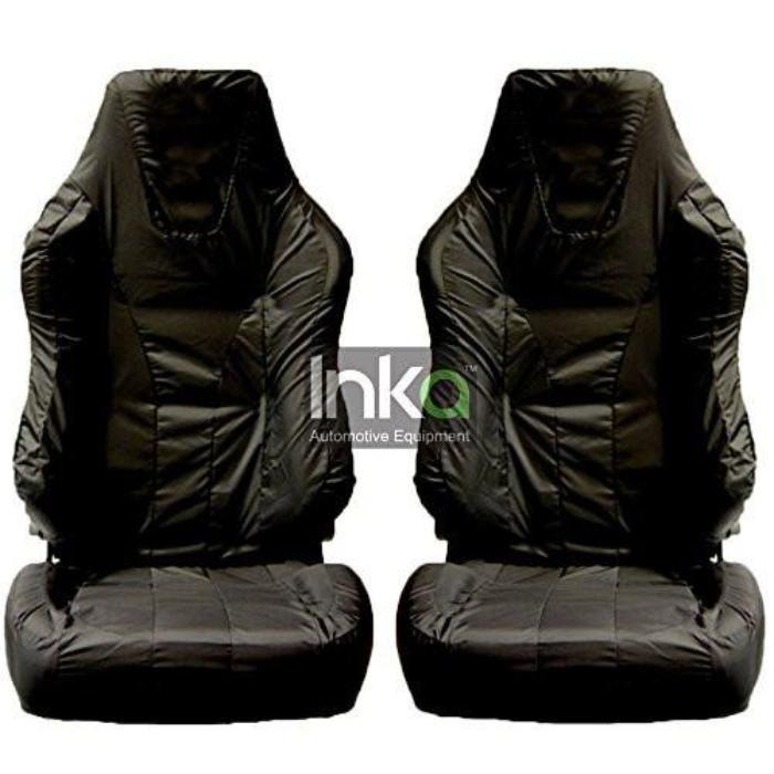 Recaro Sportster Fully Tailored Waterproof Front Single Set Seat Covers 2001 For Seats With Thigh Support Pull Out Heavy Duty Right Hand Drive Black