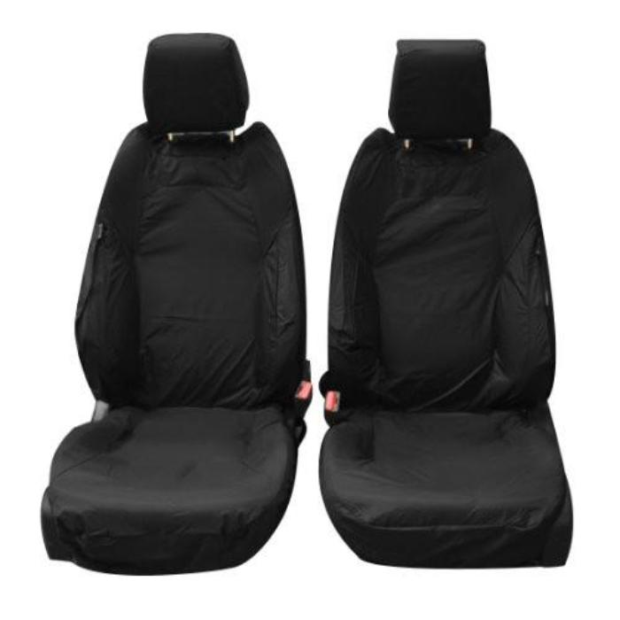 Range Rover Evoque 5 Door Tailored Waterproof Front Set Seat Covers 2011-2013 Heavy Duty Right Hand Drive black