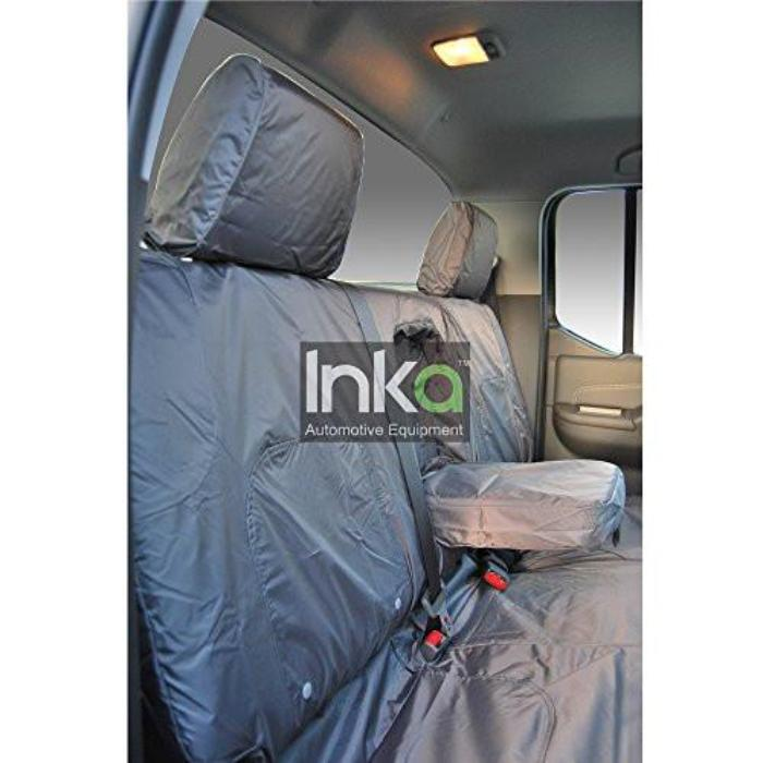 Nissan Navara Tekna Fully Tailored Waterproof Front Set Seat Covers 2005 Onwards Heavy Duty Right Hand Drive Grey
