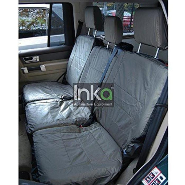 Land Rover Discovery 3 Fully Tailored Waterproof Rear Second Row Triple Set Seat Covers 2004-2009 Heavy Duty Right Hand Drive Grey