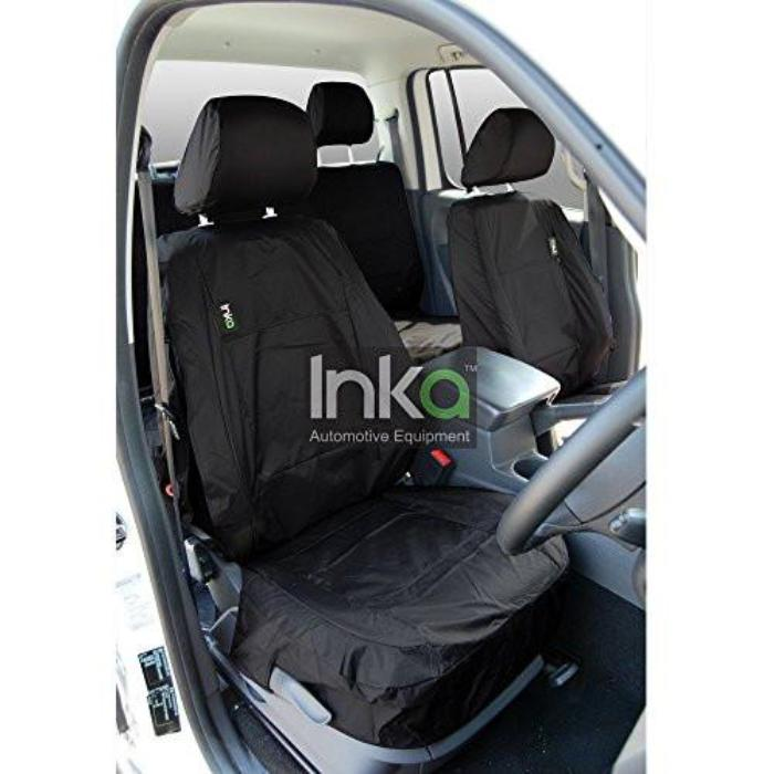 Isuzu Rodeo Fully Tailored Waterproof Front Single Set Seat Covers MY01-2012 Onwards Heavy Duty Right Hand Drive Black