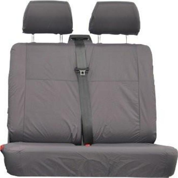 Mercedes Vito Fully Tailored Waterproof Front Row Double Seat Cover With Center Armrest 2006 Onwards Heavy Duty Right Hand Drive Grey Comfort Seat Type