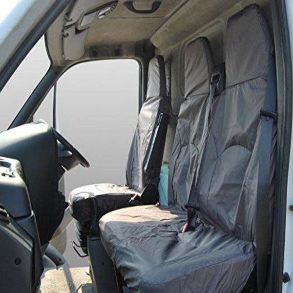 Iveco Daily Fully Tailored Waterproof Front Set Seat Covers 2006 - 2011 Heavy Duty Right Hand Drive Grey