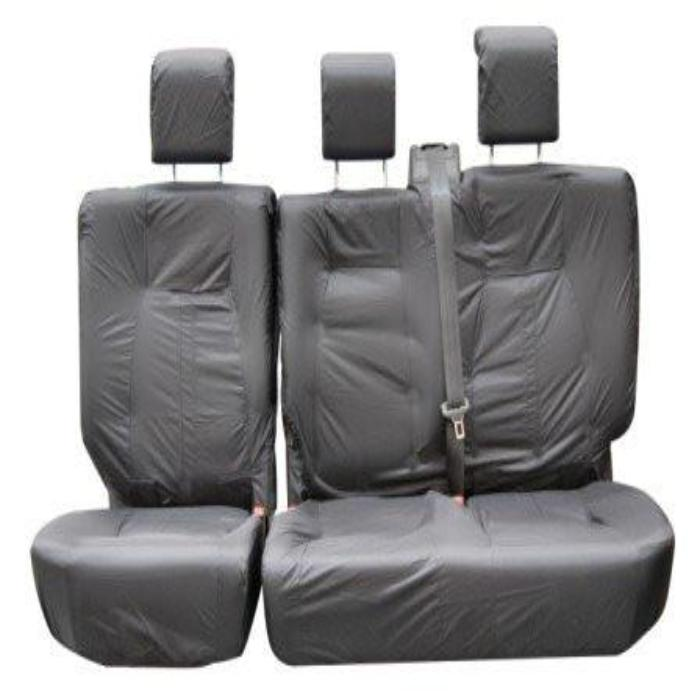 Land Rover Discovery 3 Fully Tailored Waterproof Rear Second and Third Row Single Set Seat Covers 2004-2009 Heavy Duty Right Hand Drive Grey