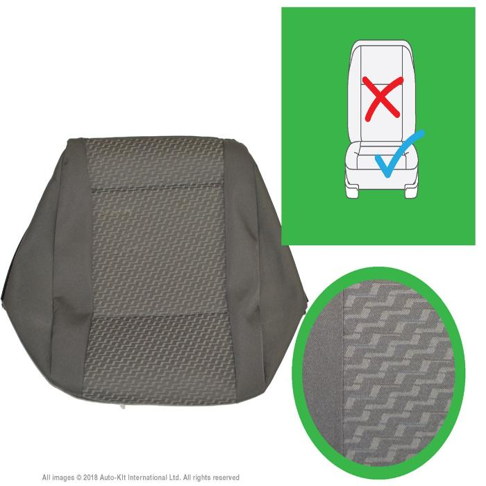 Original VW Transporter T6, T5.1 Tassimo - Anthracite Front & Rear Seat Covers