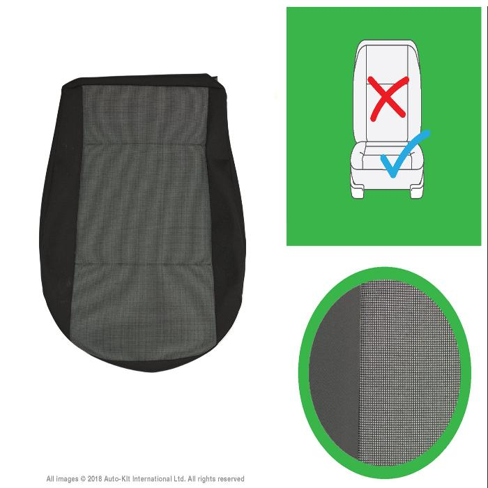 Original VW Transporter T6, T5.1 Front & Rear Original Seat Covers for Austin Titan Grey, Titanium Black and Simora Black