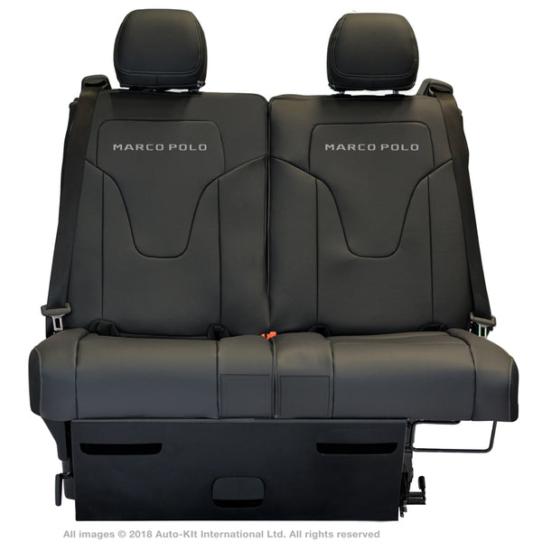 INKA Tailored Mercedes Benz Marco Polo Front & Rear Black Leatherette Seat Covers