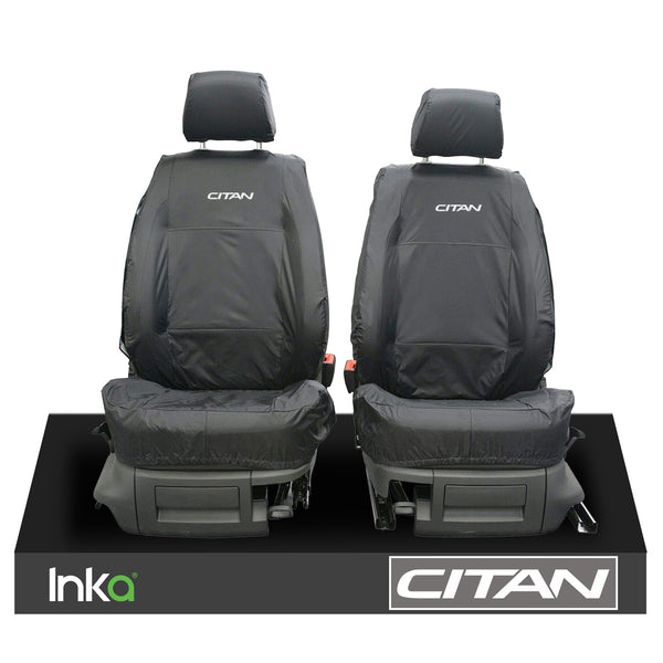 MERCEDES BENZ CITAN W415 MK1 INKA TAILORED WATERPROOF EMBROIDERY SEAT COVERS SET