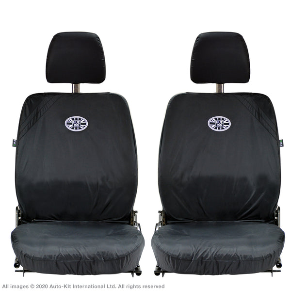 INKA Front 1+1 Land Rover Defender Fully Tailored Waterproof Seat Covers with Embroidery HUE166 / DEFENDER