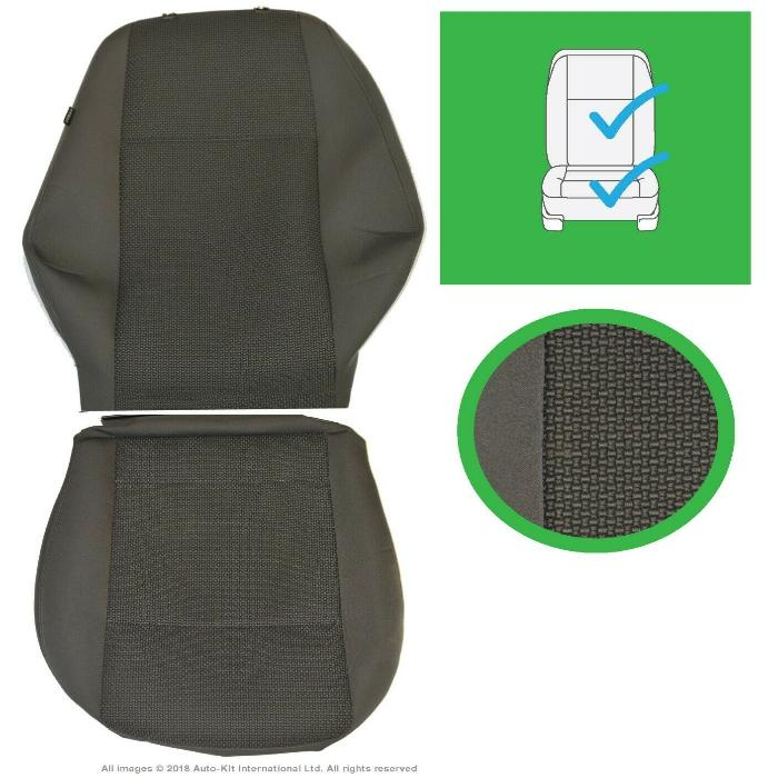Original VW Amarok MK1 Front Driver and Passenger Trendline Anthracite Seat Covers