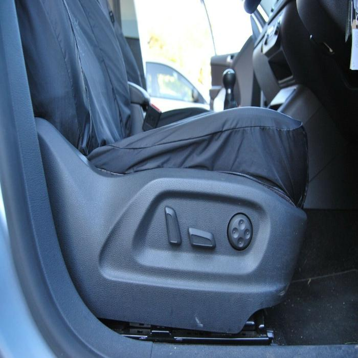 Volkswagen (VW) Tiguan Fully Tailored Waterproof Front Set Seat Covers 2009 onwards Heavy Duty Right Hand Drive Grey
