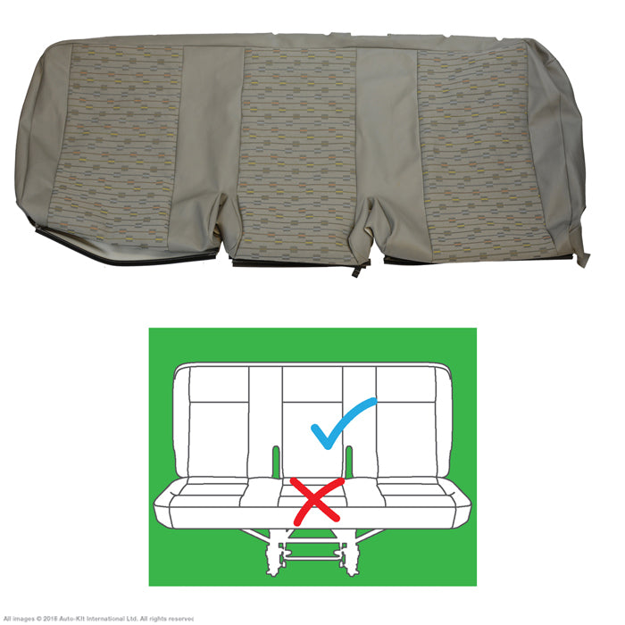Original VW Transporter T6, T5.1 PLACE Moonrock Grey Leatherette Front & Rear Seat Covers