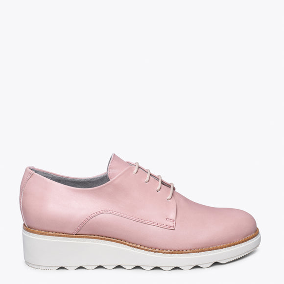 BLUCHER Zapato con cuña ROSA ANTIQUE