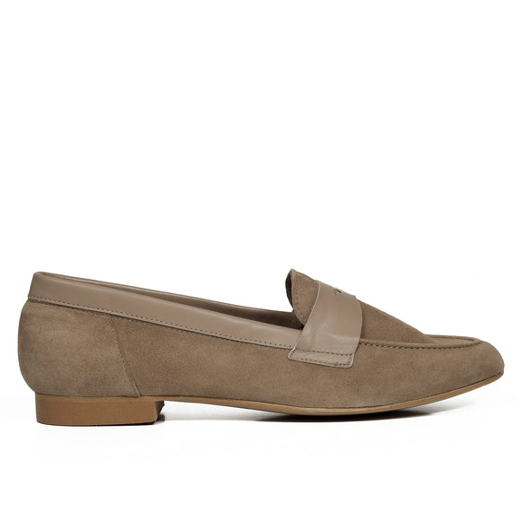 ANTIFAZ Slipper de piel TAUPE - miMaO ShopOnline