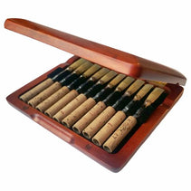 Burnt Amber Wooden Oboe Reed Case (10 Reeds)
