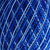 Bassoon Reed Thread Wrapping (260m, cotton) - Multi Colored / Blue