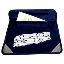 Mapac Music Bag Duo - Music Notes - Navy Blue