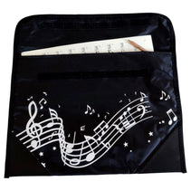 Musicwear: Wavy Stave Music Bag - Black