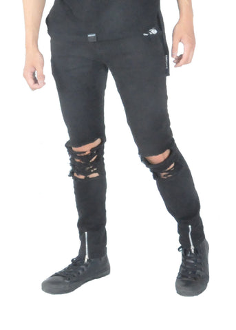 Jeans - Black distressed
