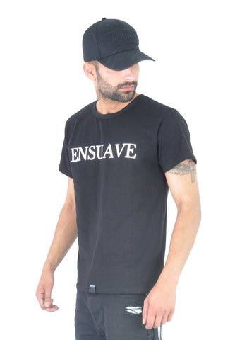 Slim Fit T-Shirt - Black with logo