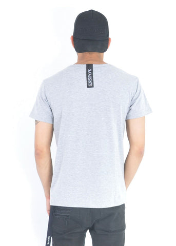 Slim Fit T-Shirt - Grey with logo