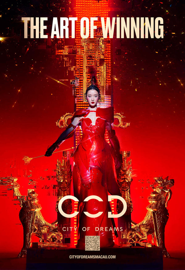 Nick Knight photographs the enchanting Du Juan wearing a custom Jivomir Domoustchiev clear red dress and sculpture coat for City Of Dream Hotel
