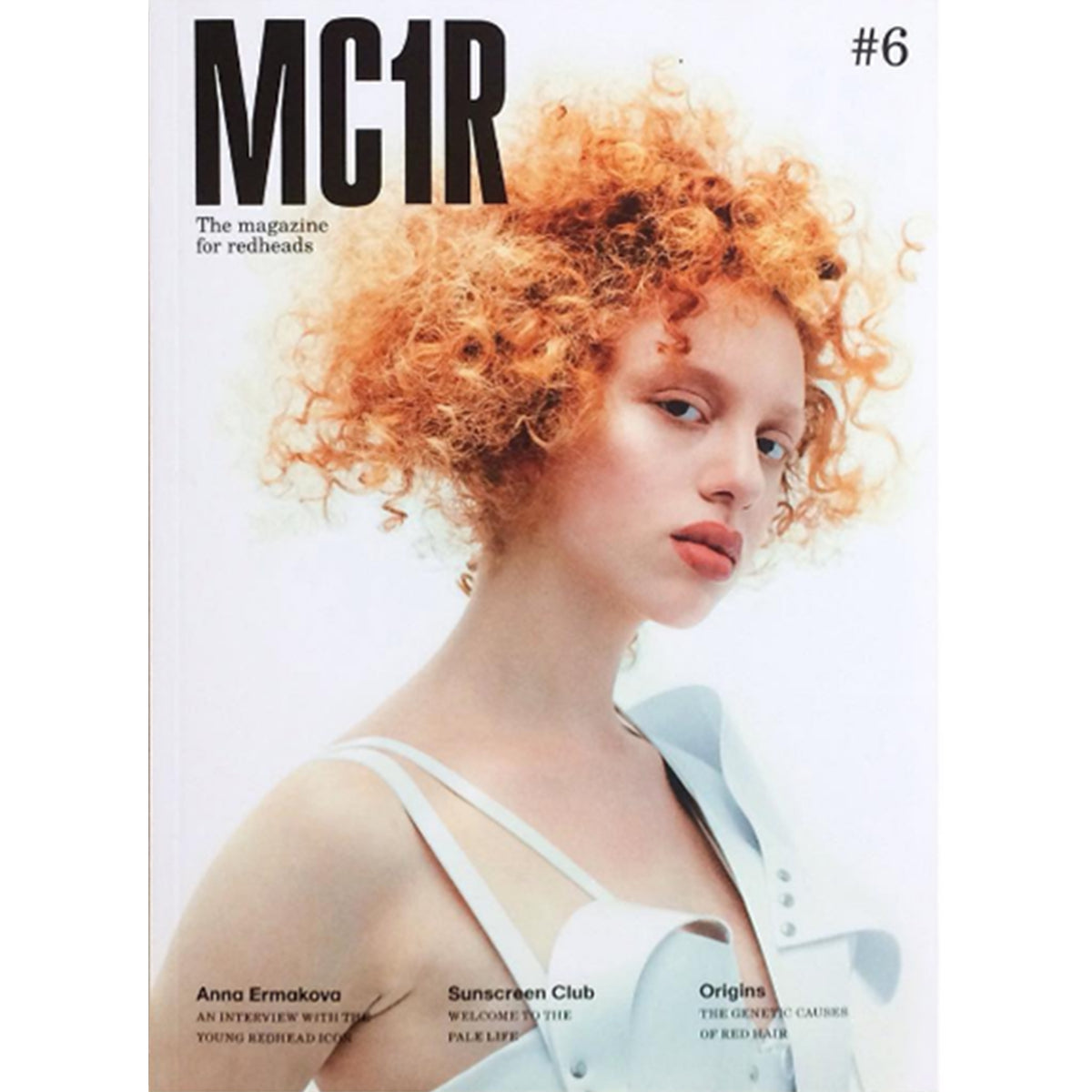 MC1R Magazine cover featuring Jivomir Domoustchiev white vinyl dress