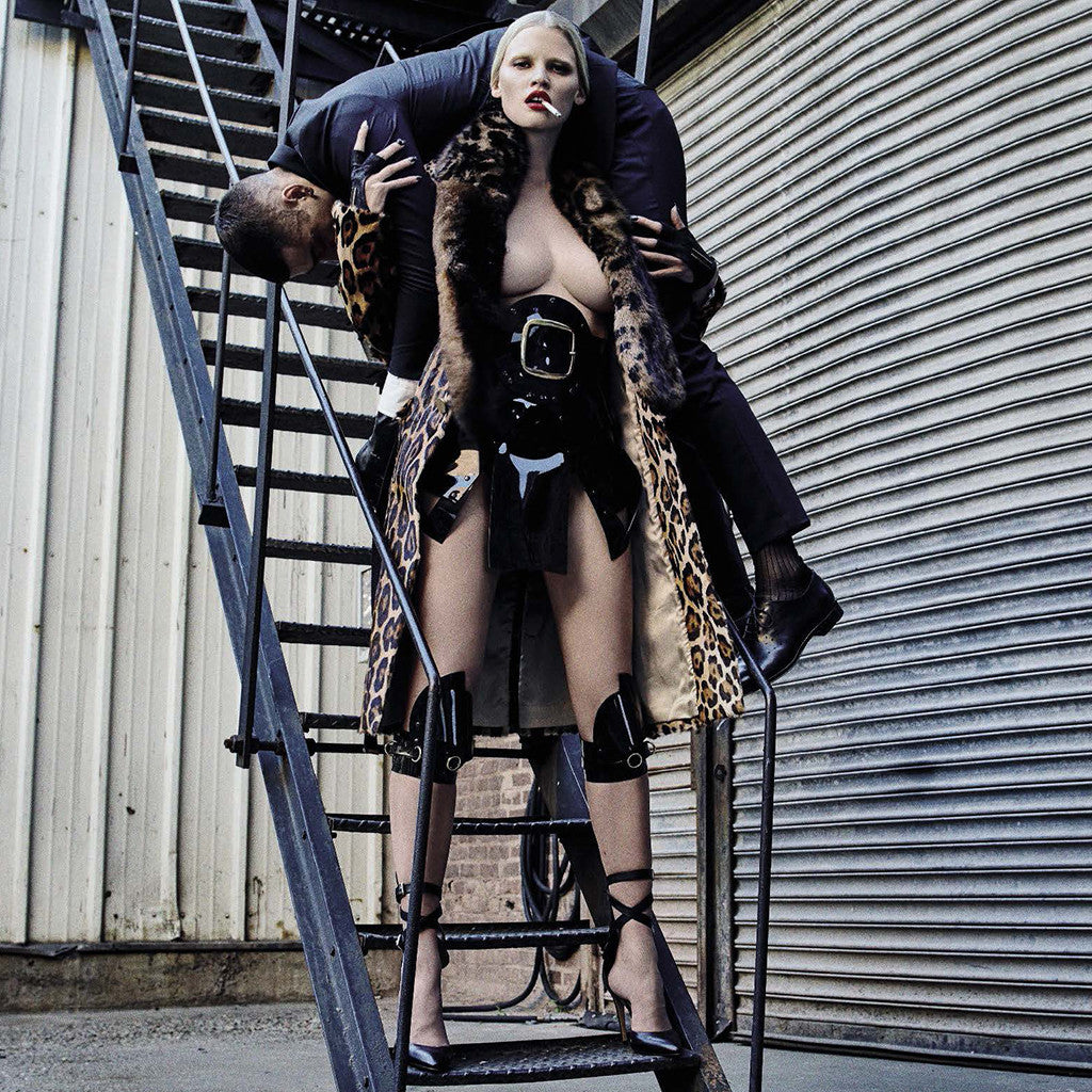 Vogue Italia - Lara Stone wears Jivomir Domoustchiev styled by Patti Wilson Photographed by Steven Klein