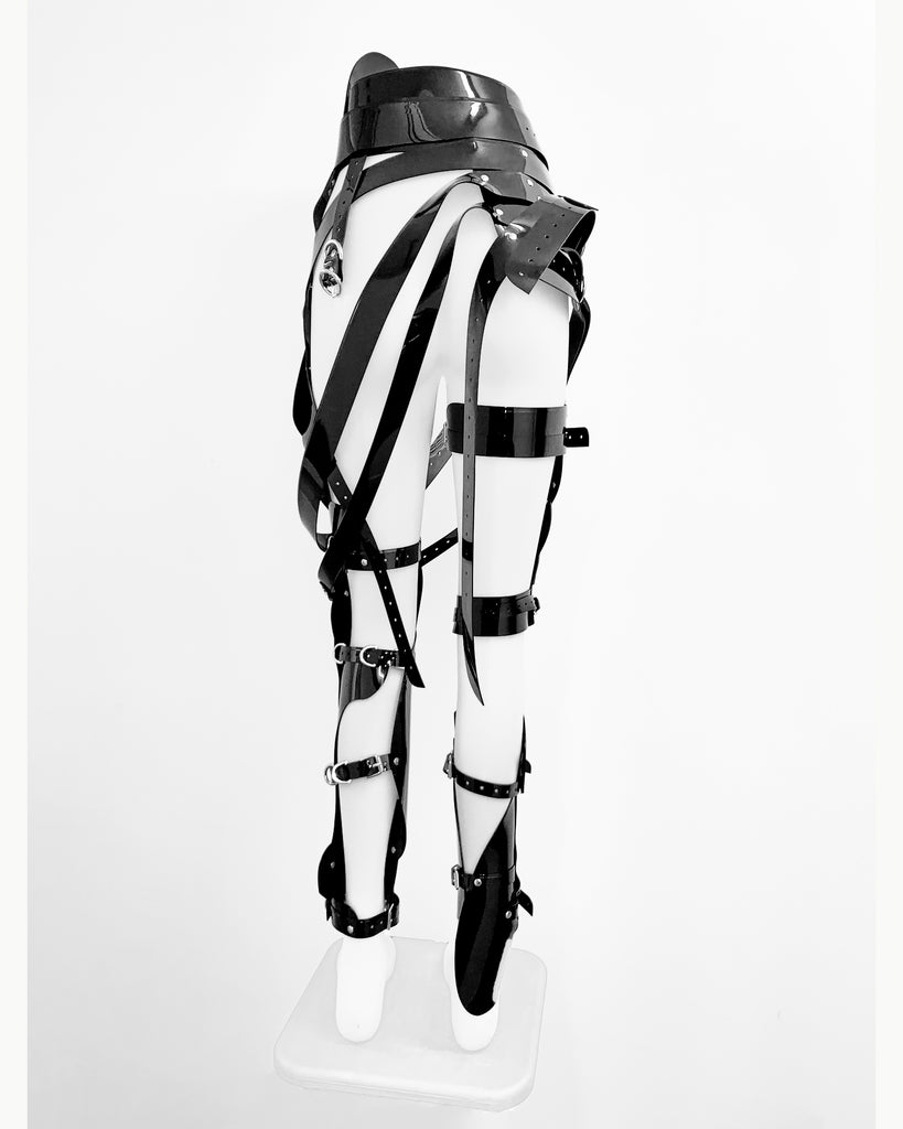 """Dixie D'Amelio ❤️ wearing Jivomir Domoustchiev Multi Buckle Full Robo Leg Belts Harness for her 'One Whole Day""""  music video and single artwork"""