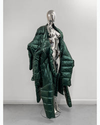 Jivomir Domoustchiev repurposed re designed sculpture future fashion hand crated from unwanted garments puffs coat sculpture design future fashion redesign