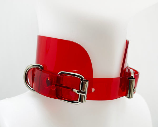 All NEW One For All collar by Jivomir Domoustchiev multi buckle vegan collar chocker