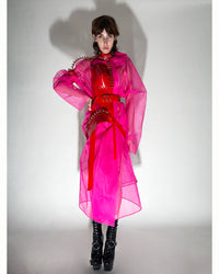 Jivomir Domoustchiev Oversized Stiffened Net Coat hand crafted in East London atelier