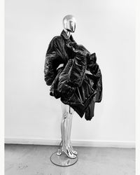 Shapeshifter PUF Jivomir Domoustchiev layered sculpture  Puffa coat repurposed reimagineeverything future fashion hand crafted made in London luxury couture