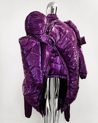 Jivomir Domoustchiev repurposed reimagine our future puffa coat jacket hand crafted to order only