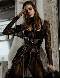 L'Officiel Australia Jivomir Domoustchiev multi ring harness vegan vinyl luxury made in London