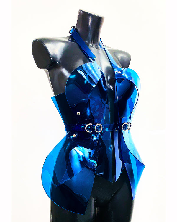 Jivomir Domoustchiev vegan vinyl sculpture harness hand crafted luxury must have love