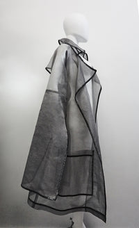 Jivomir Domoustchiev silk trench glitter trim luxury fashion